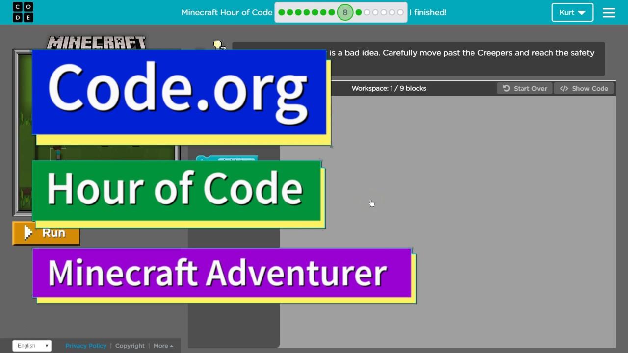 Minecraft hour of code 8