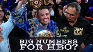 GOLOVKIN VS MARTIROSYAN PEAKS AT 1.35 MILLION  | FIRST TIME IN 2 YEARS HBO GETS 1 MILLION VIEWERS