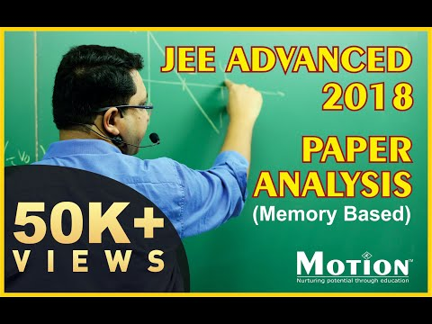 JEE Advanced 2018 Paper Analysis by NV sir