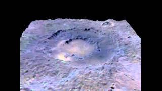 Perspective View of Mercury's Rachmaninoff Basin
