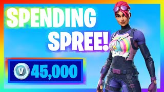 SPENDING 45,000+ V-Bucks in FORTNITE!! (Spending Spree #15)