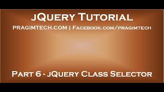 jQuery Class Selector