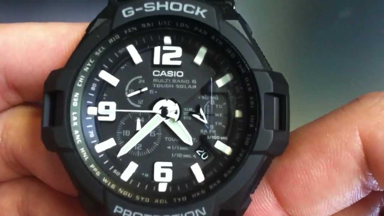 cfd9283e7ed8 Casio G-Shock Aviator Solar Atomic Watch GW4000D-1A - YouTube