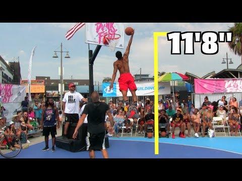 "Jonathan Clark Dunks ALMOST 12 Feet!!! Gets 11'8"" @ VBL DunkFest!"