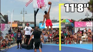 "Jonathan Clark Dunks ALMOST 12 Feet!!! Gets 11'8"" @ VBL DunkFest! Video"