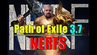 Path of Exile 3 7 NERFS INCOMING Occultist Warlord 39 s Mark Bane Trickster Abyssal Jewels