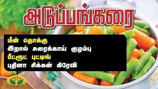 மீன் தொக்கு | பீட்ரூட் புட்டிங் | புதினா சிக்கன் கிரேவி | Adupangarai | Jaya Tv