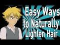 Easy Ways to Naturally Lighten Hair