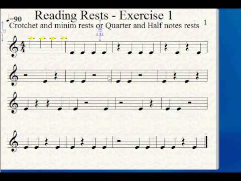 How to Read Music - Rests - Part 1