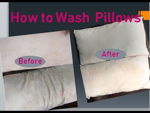 How to Wash Pillows in Tamil || Pillow Cleaning