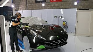 Royal VIP high end car detailing demo video  - Ferrari California T - Gyeon Quartz glass coating