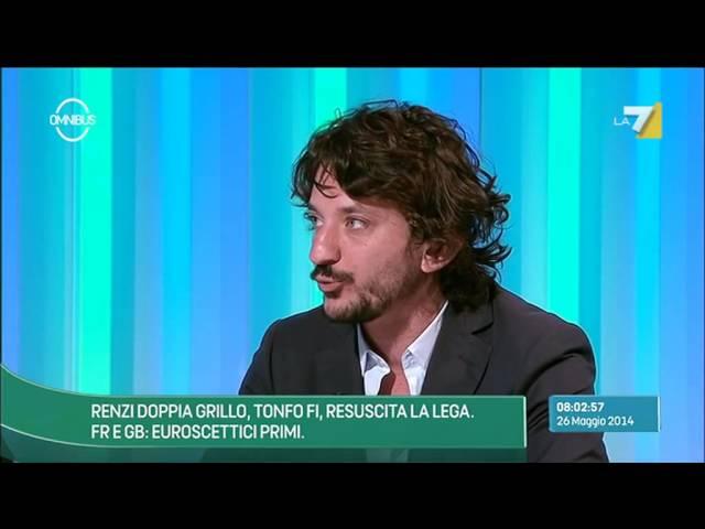 Omnibus - Labate: Il successo epocale di Renzi e il suicidio di Grillo