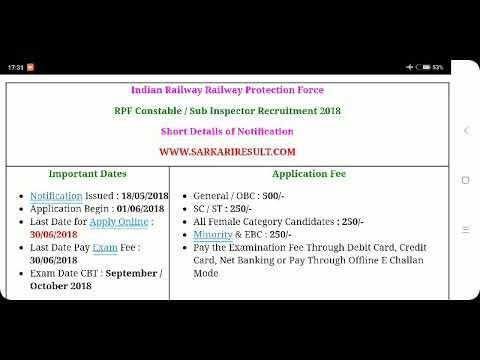 Rpf and rpsf online start 1 June 2018 recruitment 2018, vacancy 9739 direct link niche h