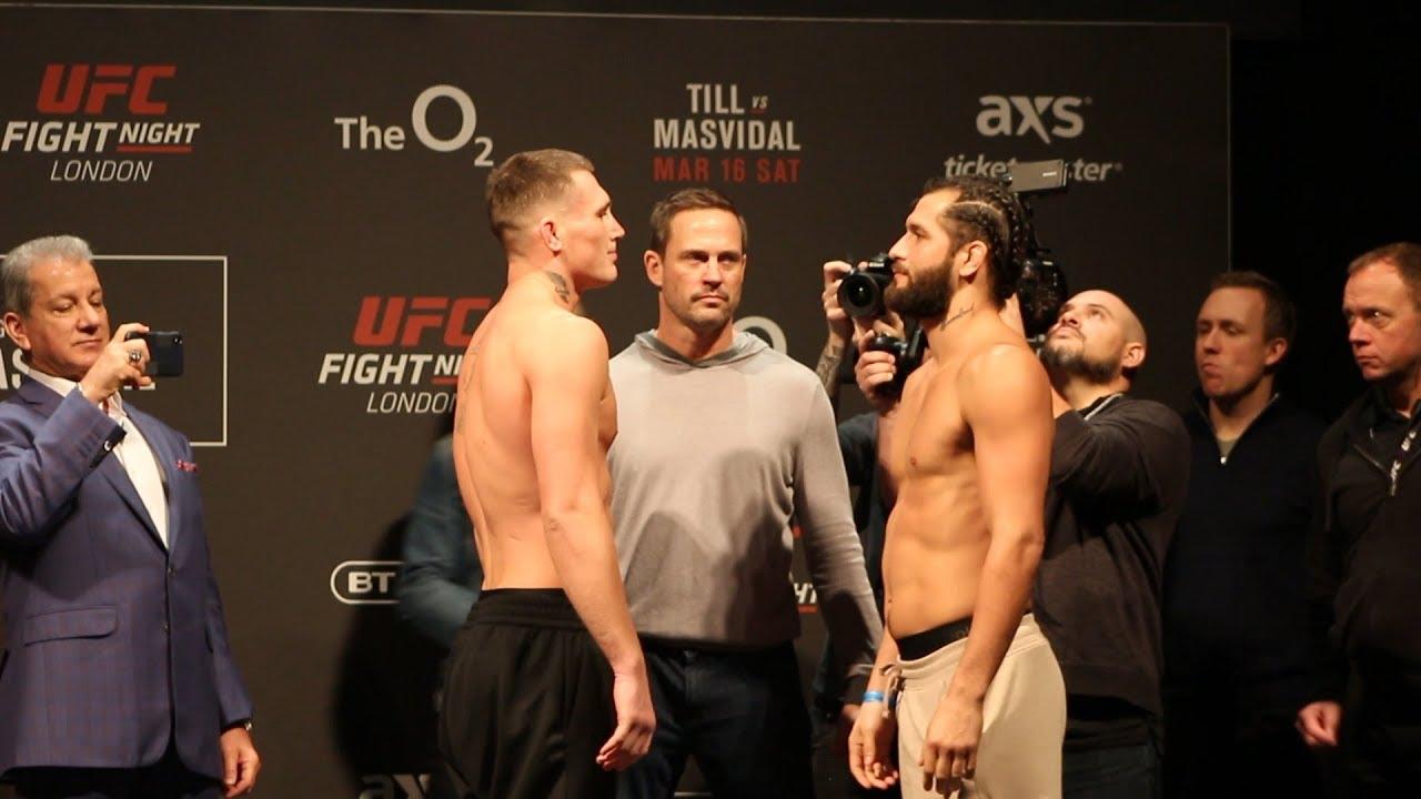 UFC London: Darren Till vs. Jorge Masvidal Weigh-In Staredown - MMA Fighting