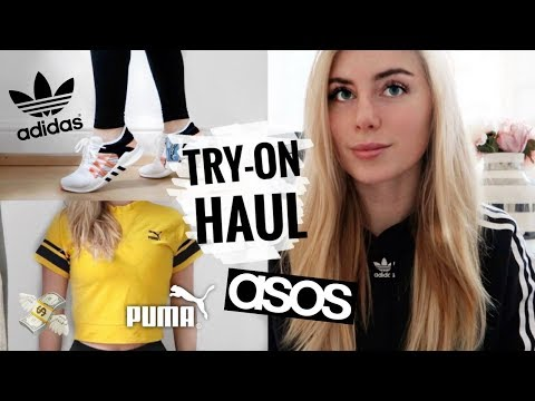 TRY-ON Haul Adidas, Puma, Asos  & mehr I Fashion & Fitness I deutsch thumbnail