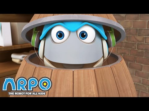 arpo-in-a-barrel!---arpo-the-robot- -funny-cartoons-for-kids- -kids-series- -robot-animation