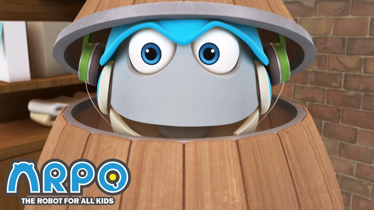 Arpo in a BARREL! - Arpo the Robot | Funny Cartoons for Kids | Kids Series | Robot Animation