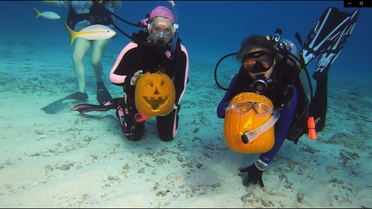 Man's Halloween hobby includes submerged pumpkin carving