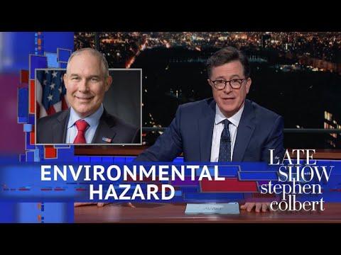 Stephen Updates The EPA's Logo For Scott Pruitt