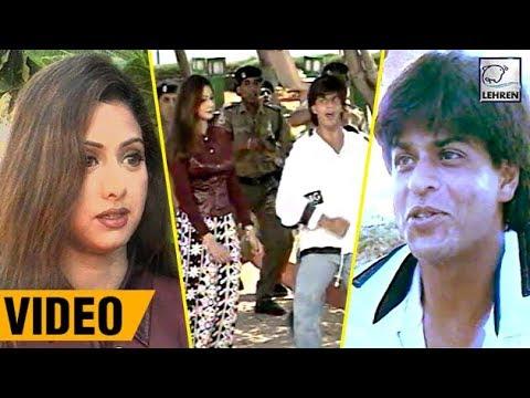 Bollywood Flashback : Shah Rukh Khan And Sridevi's ARMY On Location   Lehren Diaries