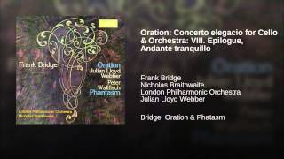Oration: Concerto elegacio for Cello & Orchestra: VIII. Epilogue, Andante tranquillo