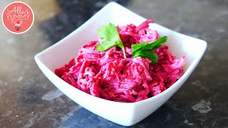 Beet Salad Recipe with Garlic | Салат из свеклы с чесноком