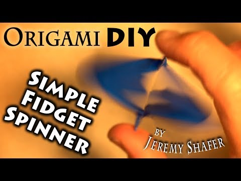 Origami DIY Simple Fidget Spinner
