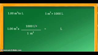 Unit conversion: cubic meters (m^3) to liters (L)