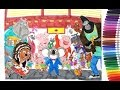 Sing coloring book how to color Buster, Johnny, Gunter, Mike, Ash 2 | speed coloring tutorial