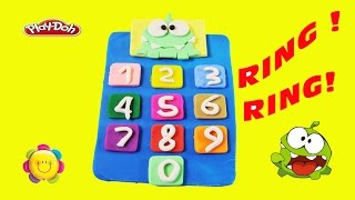 Cut The Rope 2 Om Nom Play Doh Telephone With Ring Ring!