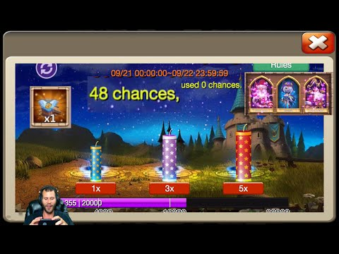 48 Firework Chances For Demogorgon 100,000 Gems Rolled For Medusa Castle Clash