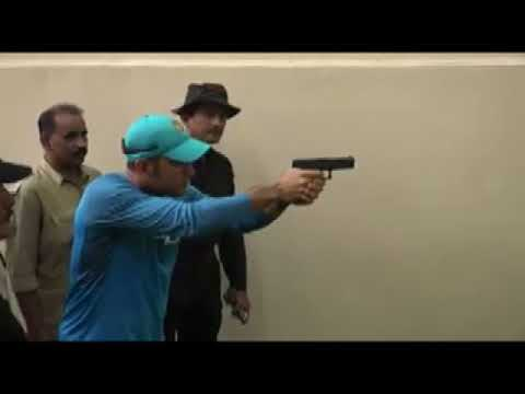 DHONI SHOOTING IN Kolkata Police Trainning School