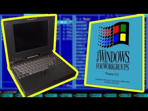 17 Бит тому назад: Ретро Ноут EPSON 486 50Mhz с Windows 3.11 - Обзор