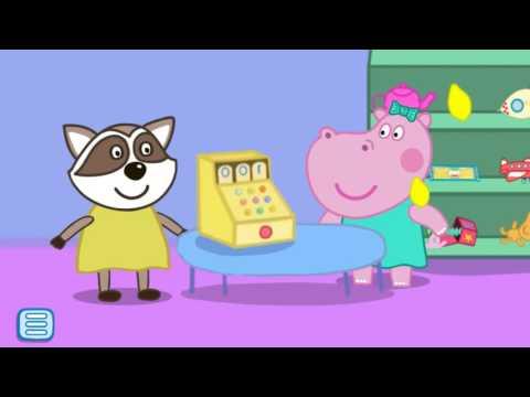 Свинка Пеппа - Супермаркет (Хиппо играет в супермаркет)