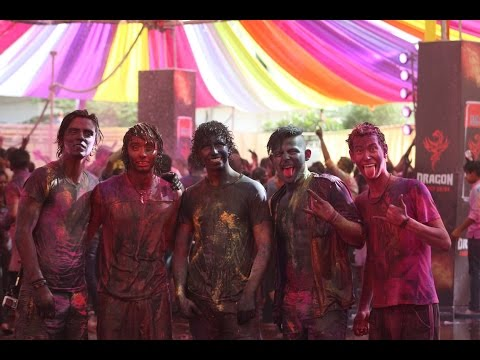 HOLI PART 1! (color all around my body)