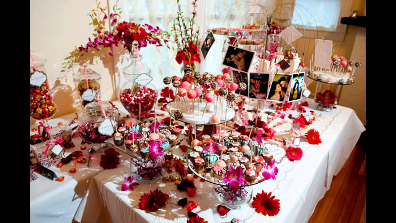 Amazing Wedding candy table ideas