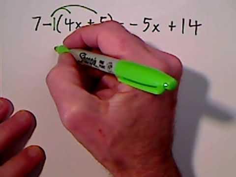 Solving Algebraic Equations Involving Parentheses