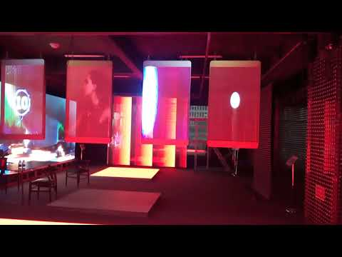 81% LED transparent Advertising machine/display/advertising video