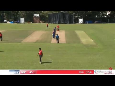 Nepal vs Hong Kong Live 47th Match (REPLAY), ICC World Cricket League Championship at Mong Kok, Oc