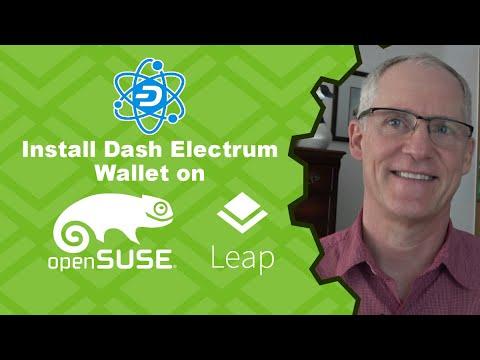 Dash Digital Cash - Install Dash Electrum Wallet On OpenSuse Leap