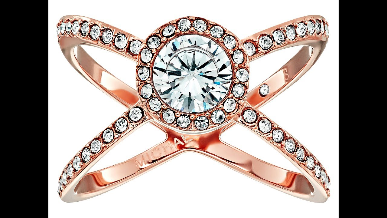 6c0774b07db0 Michael Kors Mixed Shape CZ Pavé X Ring. Michael Kors Crystal Crisscross  Double-Band Ring.