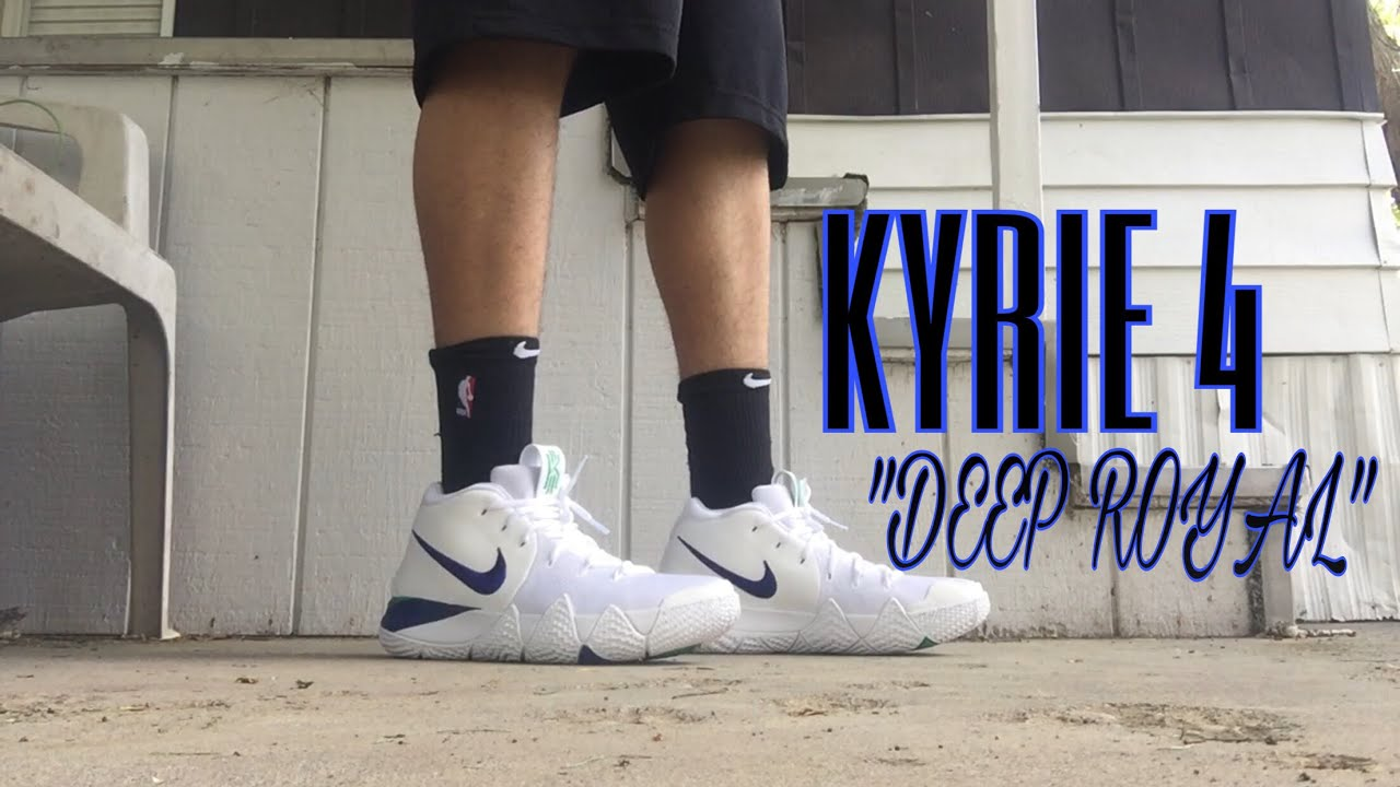 3bb1851dd9de BEST KYRIE 4 COLORWAY YET !  KYRIE 4 DEEP ROYAL REVIEW AND ON FOOT ...