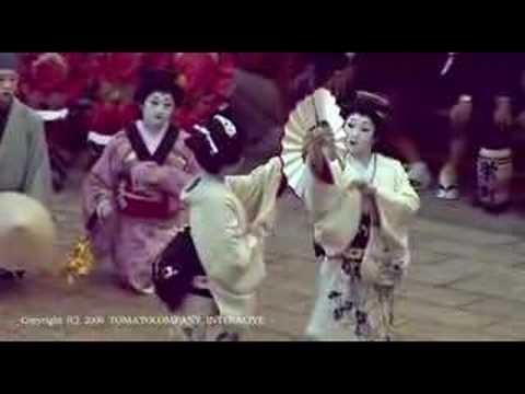 Japanese dance of beautiful GEISHA  美しい芸者の舞踊