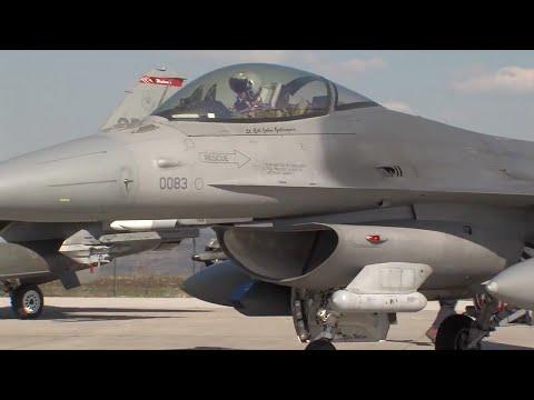 F-16 Fighting Falcons Land at Camp Turzii, Romania