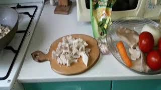 Приготовление грибной пиццы