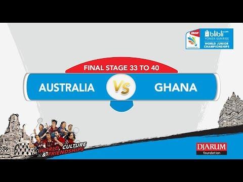 BLIBLI.COM WJC 2017   FINAL STAGE 33 To 40   AUSTRALIA vs GHANA   MS