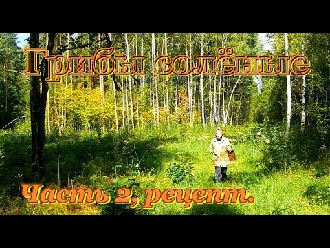Как солить грибы, подберёзовики,   ... Часть 2, рецепты. Видео рецепты от бабки (Борисовны).