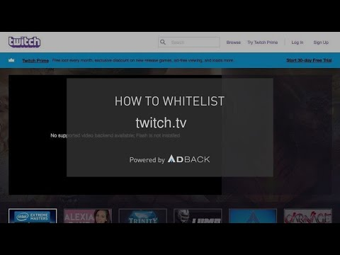 AdBack Tutorial: How to deactivate your adblocker on twitch tv?
