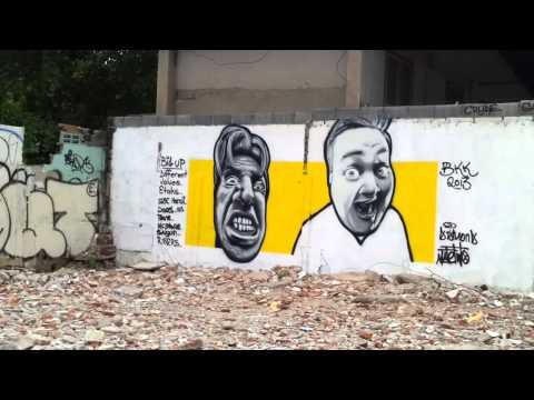 Street art portraits - MDE X MateTwo - Bangkok