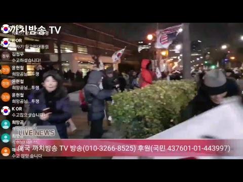 박근혜 대통령님 지지 무죄 석방 태극기 집회 마로니에 광장  12월 9일